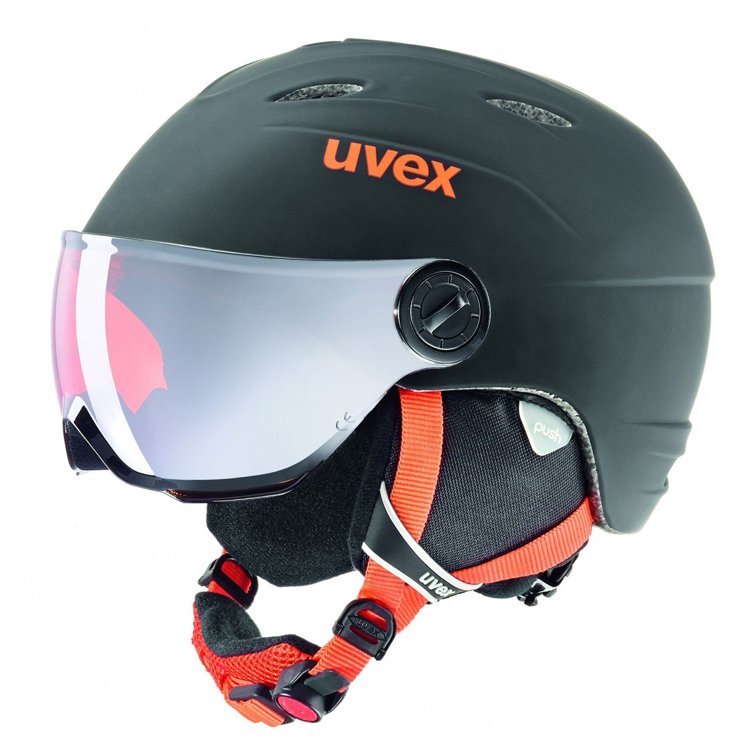 Uvex Junior Visor Pro black orange kindervizierhelm