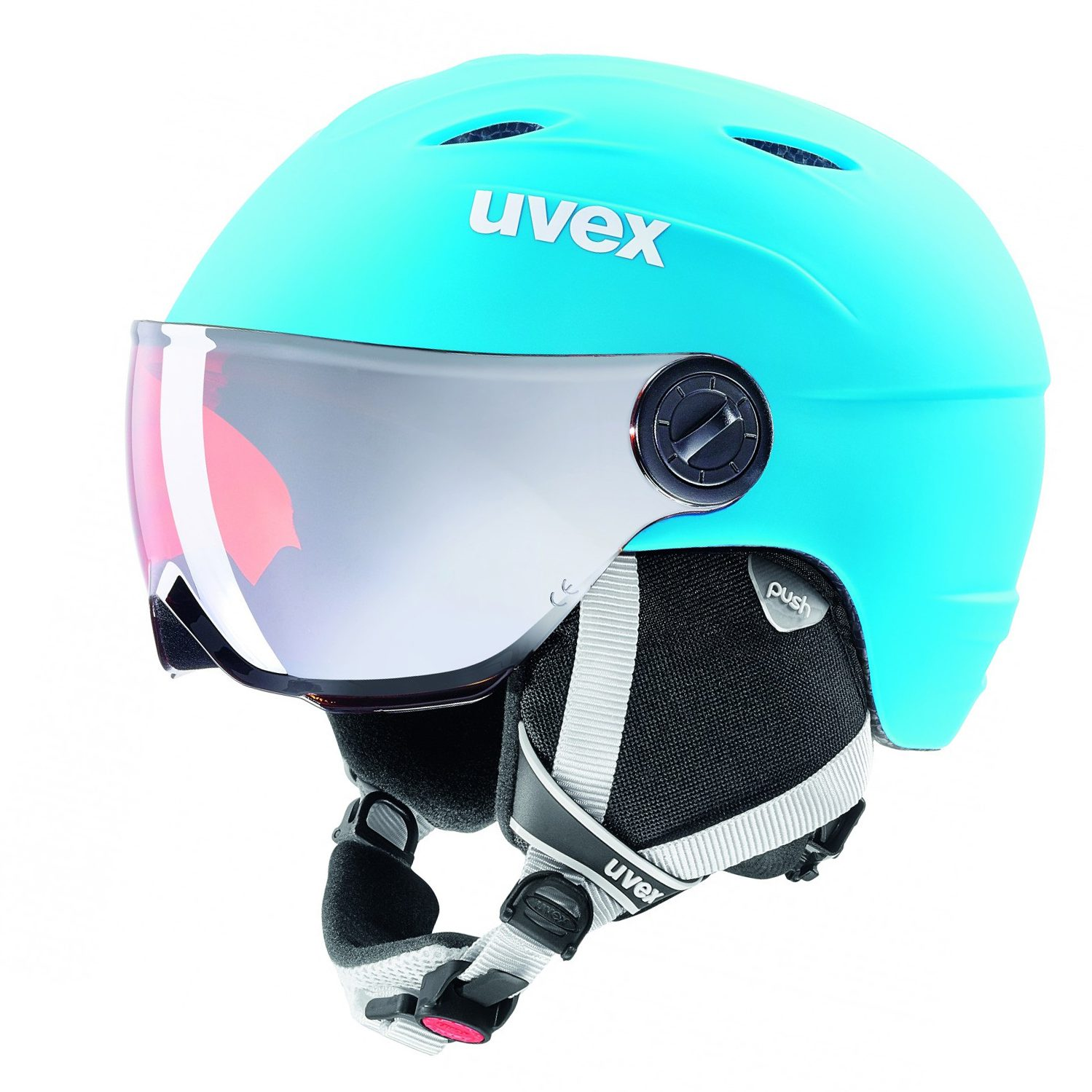 Uvex Junior Visor Pro liteblue white kindervizierhelm