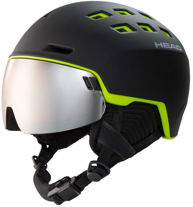 Head Radar Black Lime vizierhelm