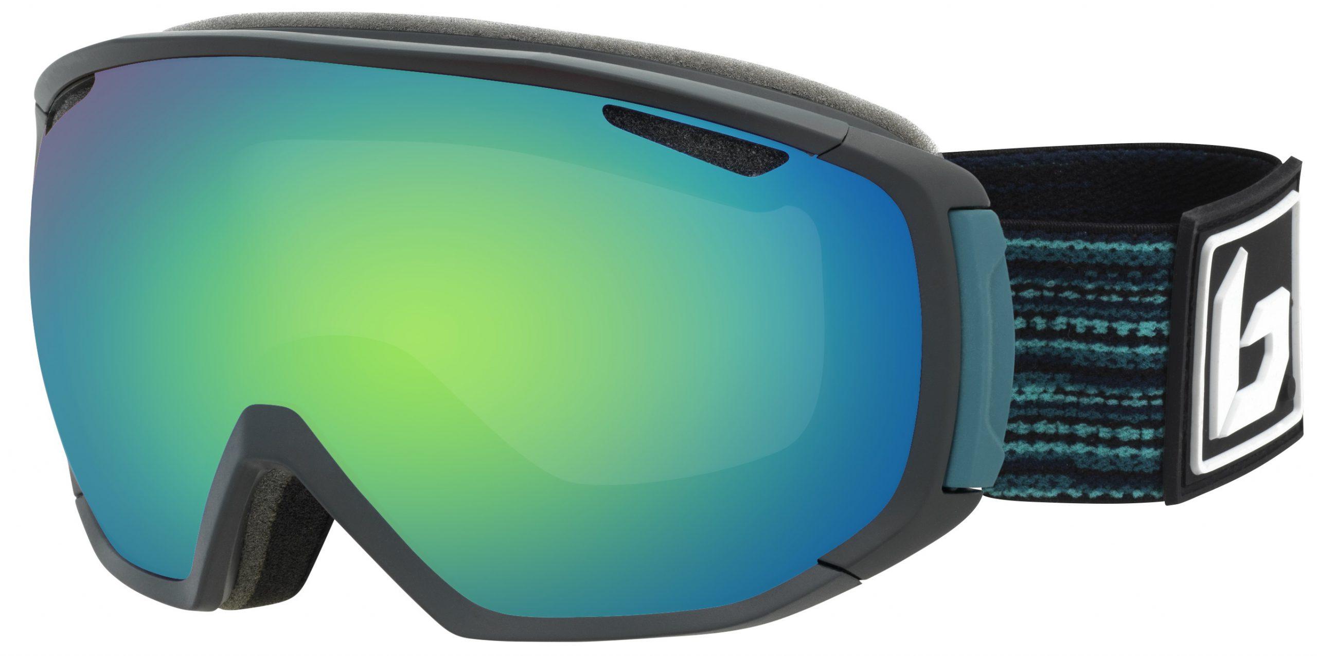 Bollé Tsar Matte Black & Blue Matrix Green Emerald skibril met een groene lens