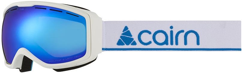 Cairn Funk OTG Junior mat white blue kinderskibril met een blauwe spiegellens