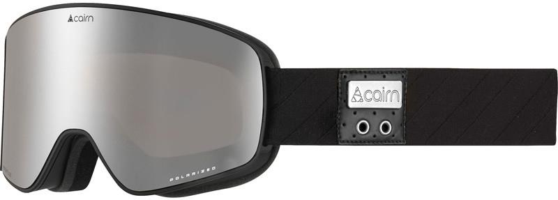 Cairn Magnitude Polarized mat black silver gepolariseerde skibril met een zilveren lens