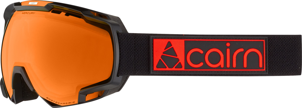 Mercury EvoLight NXT mat black orange skibril met meekleurende lens