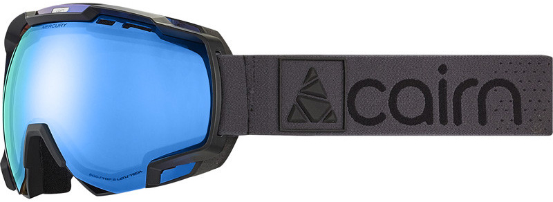 Mercury EvoLight NXT mat black silver blue skibril blauwe meekleurende lens