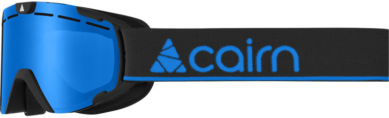Cairn Scoop Junior mat black blue kinderskibril blauwe spiegellens S3